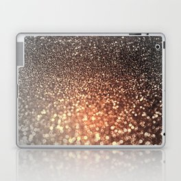 Tortilla brown Glitter effect - Sparkle and Glamour Laptop & iPad Skin