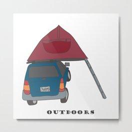 Camping Outdoors Digital Art Metal Print