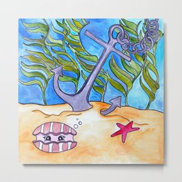 A is for Anchor Metal Print