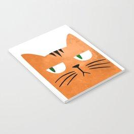 Orange cat with attitude Notebook