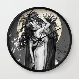Hades and Persephone Kiss Wall Clock