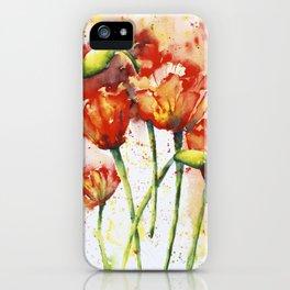 Lush Orange Spring Poppies iPhone Case