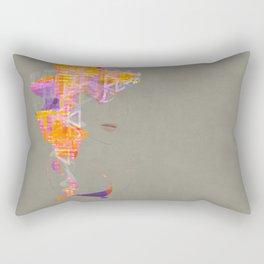 Wearing the City Rectangular Pillow