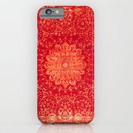Geometric Orange Oriental Vintage Traditional Moroccan Mandala iPhone Case