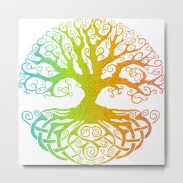 Tree of Life Rainbow Hue Metal Print
