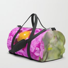 Creased Flora Duffle Bag
