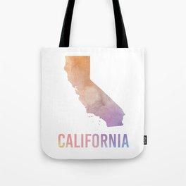 Watercolor State - CA Tote Bag