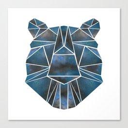 Geo Bear Canvas Print