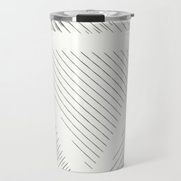 Triangle Hatching Pattern Travel Mug