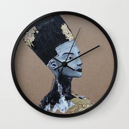 Nefertiti GOLD Wall Clock