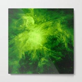 Orion Nebula : Green Metal Print