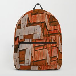 Architectural Abstract in Red Backpack