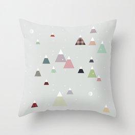 winter || in white Throw Pillow