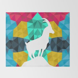 Origami Goat Throw Blanket