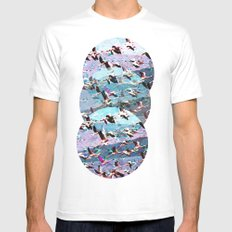 Lost Birds White Mens Fitted Tee MEDIUM