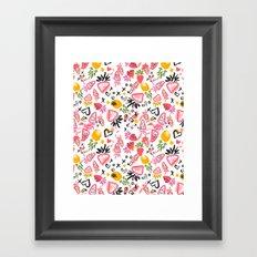Fun Fruits Framed Art Print