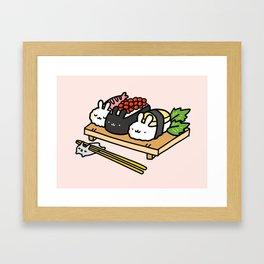 Bunnigiri Sushi Framed Art Print