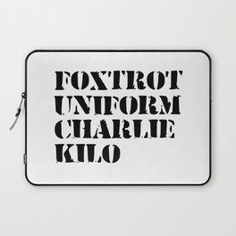 army funny sayings Laptop Sleeve