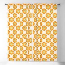 Jivin' - 70's retro throwback art floral flower motif decor hipster Blackout Curtain