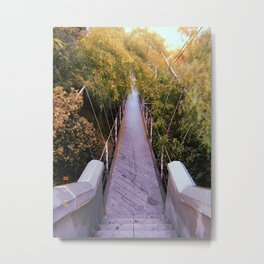 Spruce Street Suspension Bridge Metal Print