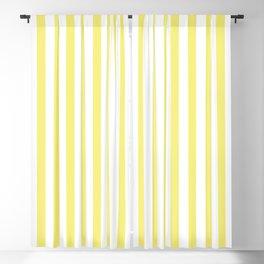 Lemon Yellow Stripes Pattern Blackout Curtain