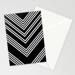 Back and White Lines Minimal Pattern No.3 Stationery Cards