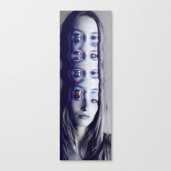 Glitch Mind Melt Canvas Print