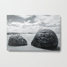 Stranded in Moeraki Metal Print