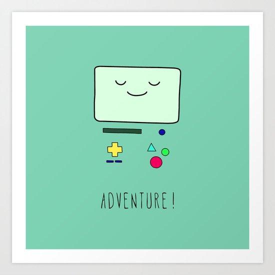 Adventure! BMO Art Print