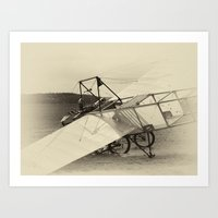 airplane Art Prints featuring Airplane by DistinctyDesign