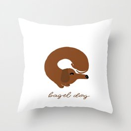 Bagel Dog Throw Pillow