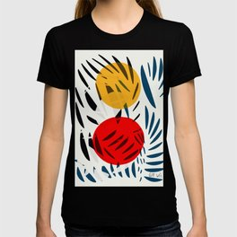 Yellow and Red Abstract Art Graphic Design T-shirt
