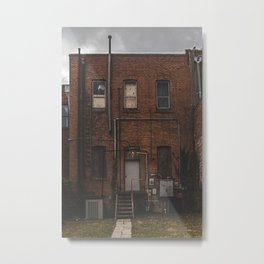 Rustic Building from an alley in Denton, TX Metal Print