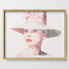 Audrey Hepburn - Watercolor Serving Tray
