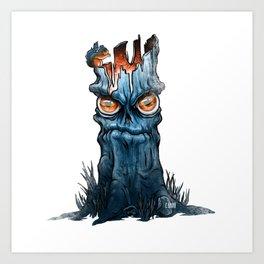 A Grumpy Tree and His Friend Art Print