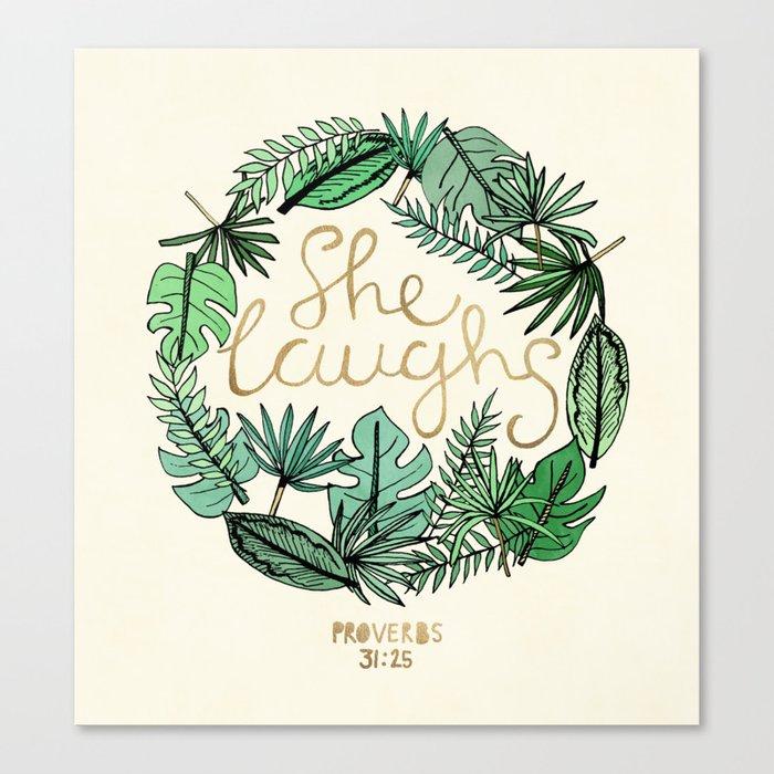 Proverbs 31:25 Canvas Print