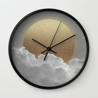 stay gold Wall Clocks featuring Nothing Gold Can Stay (Stay Gold) by soaring anchor designs