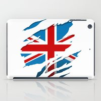 british flag iPad Cases featuring British Flag Pride by northside
