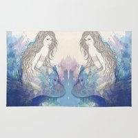 pisces Area & Throw Rugs featuring Pisces by katiwo