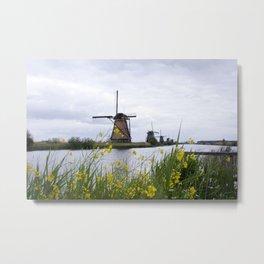 Windmills in the Netherlands Metal Print