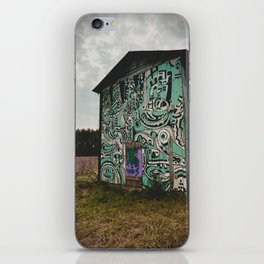 Blue Graffiti Barn iPhone Skin