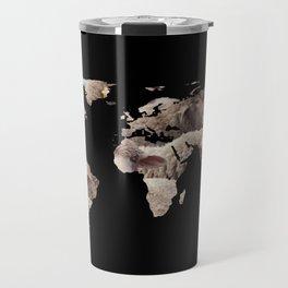 World Map Silhouette - Sheep Herd Travel Mug