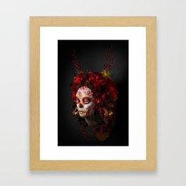 Crimson Havest Muertita Framed Art Print