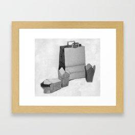 Bag & Box Framed Art Print