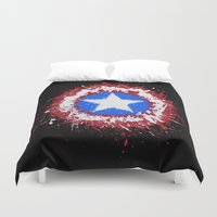 shield Duvet Covers featuring The Shield by DanielBergerDesign