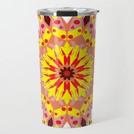 vintage sunflower mandala Travel Mug
