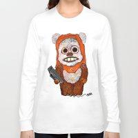 ewok Long Sleeve T-shirts featuring Eccentric Ewok by Jordan Soliz