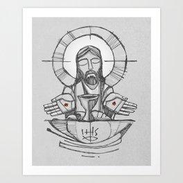 Jesus Christ Eucharist illustration Art Print