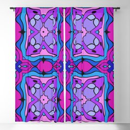 Stained Glass Floral Blackout Curtain