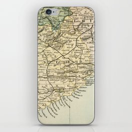Vintage and Retro Map of Southern Ireland iPhone Skin